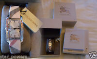 Burberry Rectangular Check Strap Watch 20mm x 26mm Women's Woman's New in Box