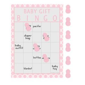 Little Peanut Girl 10 Guest Bingo Game Pink Elephant Baby Shower
