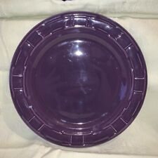 Longaberger Pottery Woven Tradition Eggplant Purple Dinner Replacement Plate 10""