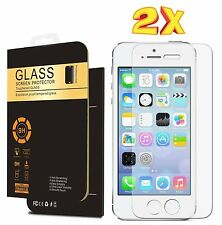 100 % GENUINE TEMPERED GLASS FILM SCREEN PROTECTOR FOR APPLE iPHONE 5/5s