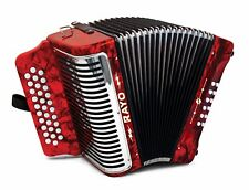 NEW Hohner RAYO Accordion GCF Sol 31 Button Acordeón Diatónico Compare Panther