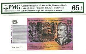 1969 Commonwealth of Australia $5 PMG65 EPQ GEM UNC <P-39b> Philips - Randall