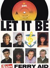 Ferry Aid ORIG OZ PS 45 Let it be NM '87 CBS Paul McCartney Kate Bush Boy George