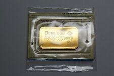 Degussa Feingold 10g Fine Gold Bullion Bar 999.9 10 Grams