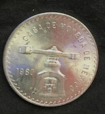 1980 MEXICO SILVER ONZA ONE OUNCE COIN UNCIRCULATED
