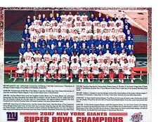 2007 NEW YORK GIANTS 8X10 TEAM PHOTO SUPER BOWL CHAMPS  FOOTBALL NFL USA