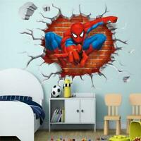 Spider Man Super Hero 3D Wall Sticker Removable Vinyl Art Decal Kids Room Decor