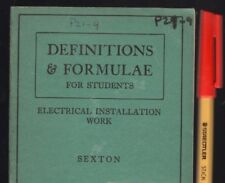 Vintage 1939 : ELECTRICIANS Electrical Installation Work   Definitions & Formula