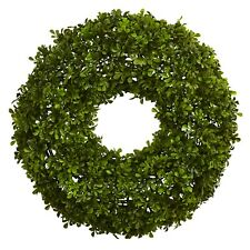 22 in. Boxwood Wreath by Nearly Natural
