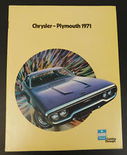 1971 Plymouth Satellite & other models- Original Car Sales Brochure Catalog