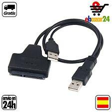 Adpatador SATA a USB 2,0 Serial ATA 15 + 7 22 P HDD 2,5' Disco Duro Externo *Env