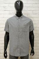 Camicia Uomo TERRANOVA Taglia Size L Maglia Shirt Man Cotone Quadri Manica Corta