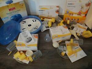 NUK & MEDELA Baby Milchpumpe Flasche Zubehör Set Sterilisator OVP Gebraucht