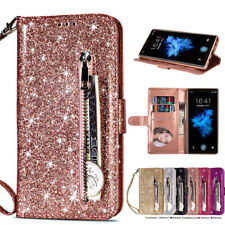 Leather Wallet Phone Case Bling Glitter Cover For Samsung Galaxy S10 Plus S10e