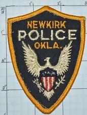 OKLAHOMA, NEWKIRK POLICE DEPT VINTAGE PATCH