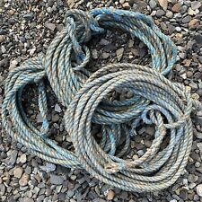 112' Blue Weathered MAINE Boat Lobster Trap Buoy ROPE Nautical Decor Recycle