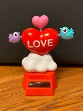 Solar Powered Dancing Bobblehead Toy - 2021 Valentine's Day  - Heart With Birds