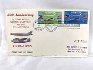 40th Anniversary of China Clipper to the Philippines - 1st Day of Issue Cover