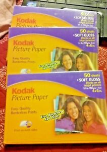 Kodak Picture Perfect Paper For Ink Jet Prints 50 Soft Gloss Sheet FREE SHIPPING
