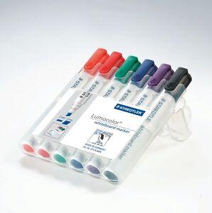 STAEDTLER 351 WP6 Lumocolor Whiteboard Markers Pens - 6pk/8pk BULLET or CHISEL