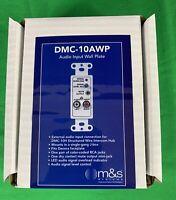 M&S DMC-10AWP AUDIO INPUT WALL PLATE FOR DMC10H