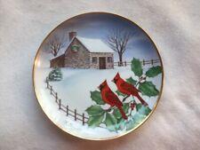 Franklin Mint Christmas Cardinals Plate