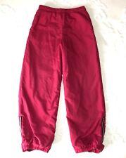 Vintage LL BEAN Kids Girls Pants Medium (10-12) Pink Red Ski Snowboard VTG