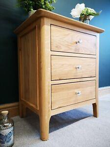 Bergen Light Oak Extra Large Bedside Cabinet / Scandinavian Style Nightstand