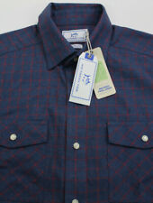 SOUTHERN TIDE Classic Fit L/S Snap Button Shirt Mens Size Medium Twill