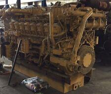 Two Caterpillar Cat 3516 A Locomotive Diesel Engine 9Kf Serial 9Y-7015 Rebuild