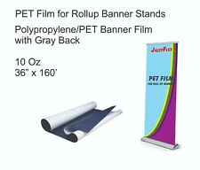 Jazzyflex Pet Material With Grey Back For Banners Stands 10 Oz 36 X 160 Roll