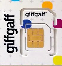 Tarjeta SIM prepago Giffgaff UK £5 saldo gratis Envío normal Sim UK Giff Gaff X