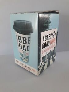 Abbey Road Ceramic Travel Coffee Mug , The Beatles NW8 London .New in Gift Box