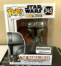 Funko POP! Star Wars Amazon Exclusive THE MANDALORIAN CHROME Disney SOLD OUT
