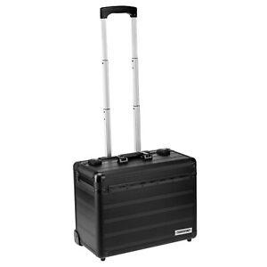Pilotenkoffer Aluminium Business Trolley TSA-Schloss Aktenkoffer Handgepäck