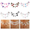 3m Floral Lace Banner Bunting 12Flag Party Birthday Wedding Decor Ceremony White