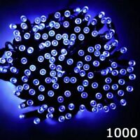 Super Bright 1000 LED Blue Christmas Chaser Lights 8 Modes Indoor Outdoor Xmas