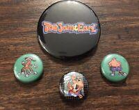 ToeJam & Earl 4 PIN COLLECTORS SET! New! Sega Genesis / Toe Jam and Earl / Badge