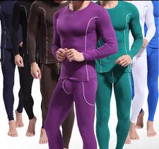 New Bamboo Fiber Men's Thermal Long Johns Underwear Warm Tops & Bottoms Set s