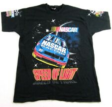 Vintage 1995 NASCAR RACING Speed Of Light All Over Print T Shirt Size XL