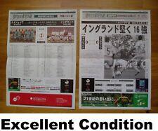 ENGLAND v NIGERIA 2002 World Cup PROGRAMME + RESULT SHEET Japan DAVID BECKHAM
