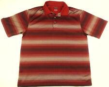 PRONTO UOMO SPORT Mens POLO SHIRT Size L 100% Polyester SHORT SLEEVE 3 Button