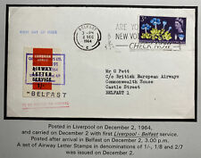 1964 Belfast England First Day Cover Cambrian Airway Letter Service