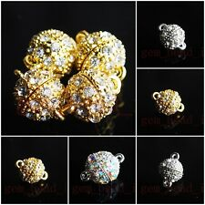 Bulk Round Ball Crystal Stronger Magnet Clasp Connector Findings 10mm