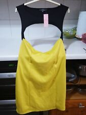 BNWT clubwear dress in yellow and black size 14 from Rare