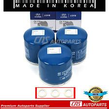 Oil Filter Washers 3pcs GENUINE Fits Hyundai Accent Elantra Sonata Kia Optima