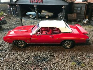RARE GMP PREPRODUCTION  SAMPLE 1970 RED ON RED GTO PONTIAC CONVERTIBLE