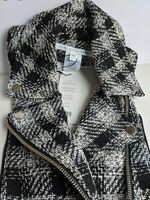 Veronica Beard BRANDO Dickey Black & White Tweed Moto Style NWT SOLD OUT
