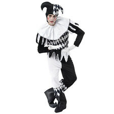 HARLEQUIN #MALE FANCY DRESS ONE SIZE COSTUME CLOWN ADULT HALLOWEEN
