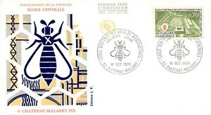Enveloppe FDC FRANCE ECOLE CENTRALE ARTS ET MANUFACTURES 1969 CHATENAY MALABRY